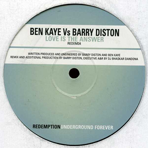 BEN KAYE vs BARRY DISTON - LOVE IS THE ANSWER