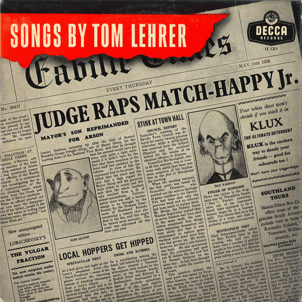 Tom Lehrer - Songs By Tom Lehrer