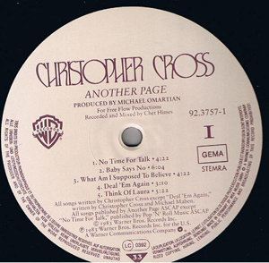 Christopher Cross - Another Page