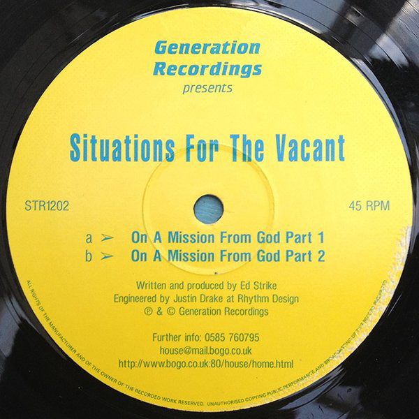 Situations For The Vacant - On A Mission From God