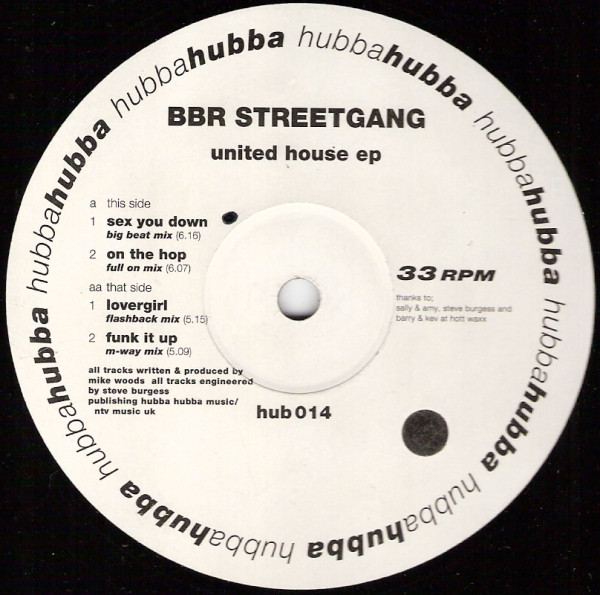 BBR STREETGANG - UNITED HOUSE EP