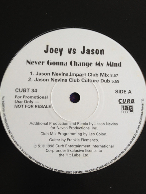 JOEY VS JASON - NEVER GONNA CHANGE MY MIND