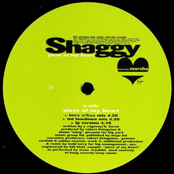 Shaggy - Piece Of My Heart (Todd Terry Remixes)