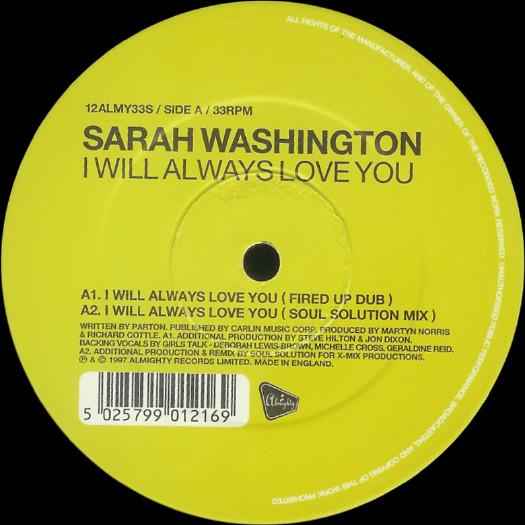 Sarah Washington - I Will Always Love You