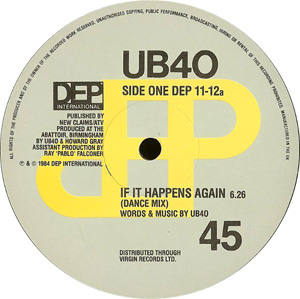 UB40 - If It Happens Again (Dance Mix)