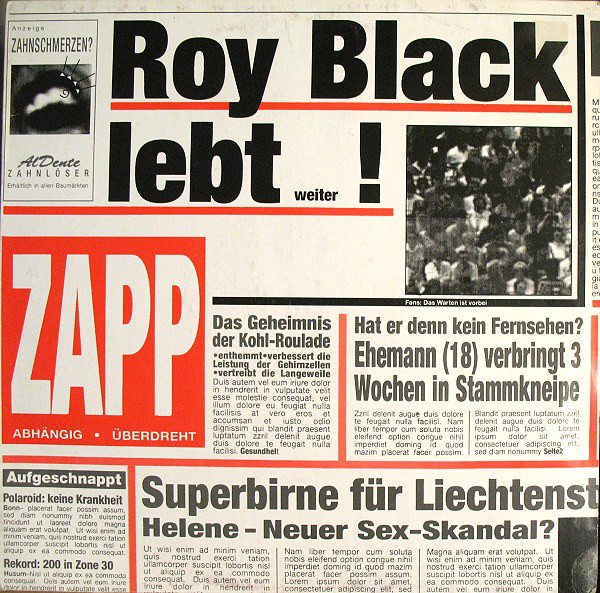 ZAPP - ROY BLACK LEBT!