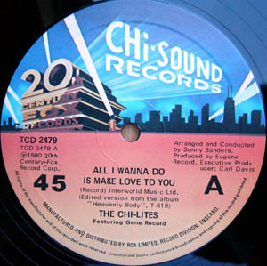 Chi-Lites, The - All I Wanna Do Is Make Love To You / Love Shock
