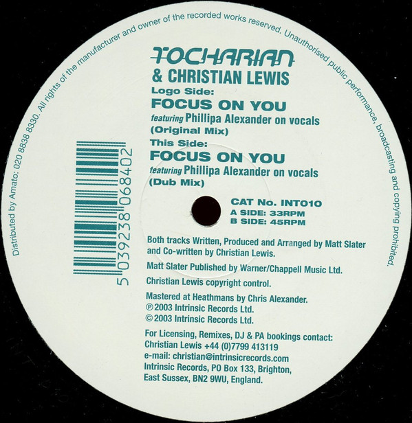 Tocharian & Lewis - Focus On You