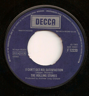 ROLLING STONES, THE - (I Can't Get No) Satisfaction - 7inch x 1
