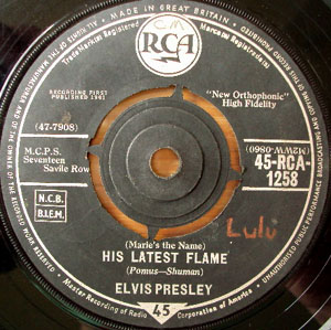 Elvis Presley - His Latest Flame / Little Sister