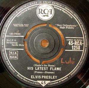 Elvis Presley - His Latest Flame / Little Sister