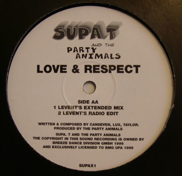 SUPA. T AND THE PARTY ANIMALS - LOVE & RESPECT