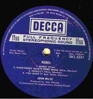 John Miles - Rebel