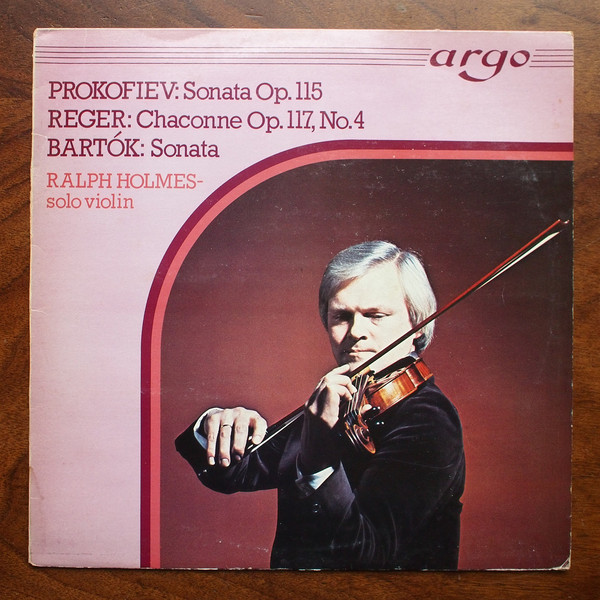 Prokofiev, Reger,  Bartok - Sonata Op.115/Chanconne OP.117/Sonata
