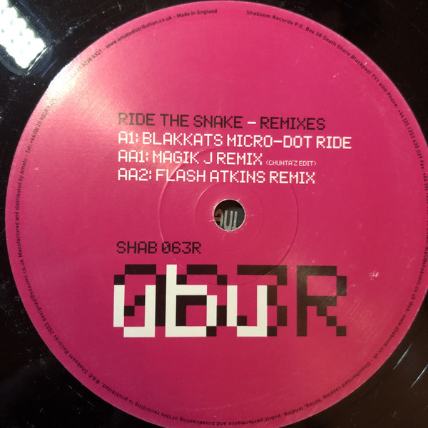 UBU - RIDE THE SNAKE (REMIXES)