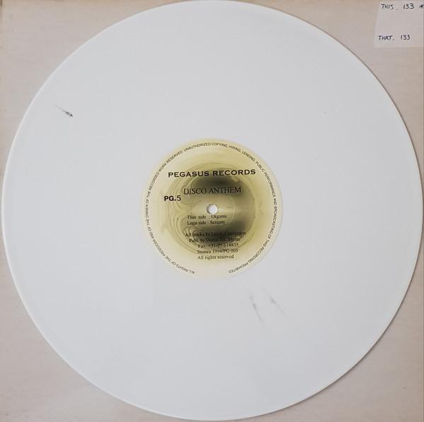 DISCO ANTHEM - SCREAM / ORGANIC (WHITE VINYL)
