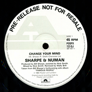 Sharpe And Numan - Change Your Mind