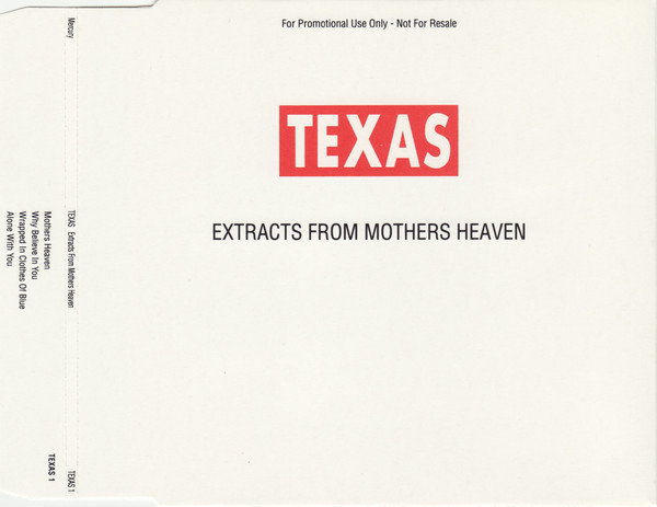 Texas - Extracts From Mothers Heaven (CD + Cassette)