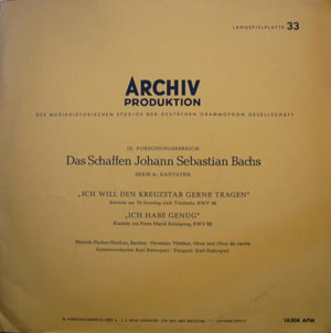 Bach ? Dietrich Fischer-Dieskau, Hermann T?ttcher -