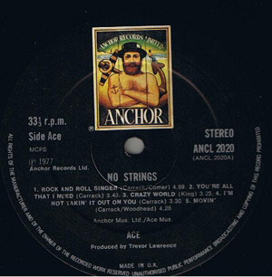 ACE - No Strings - LP
