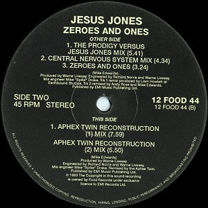 JESUS JONES - ZEROES & ONES (APHEX TWINS)