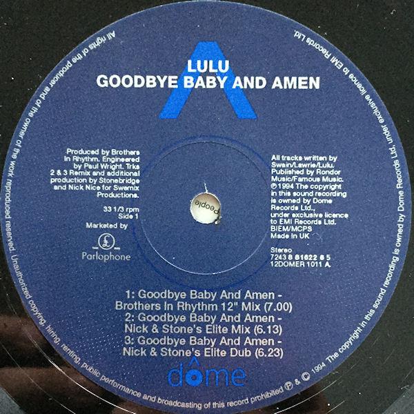 LULU - GOODBYE BABY & AMEN