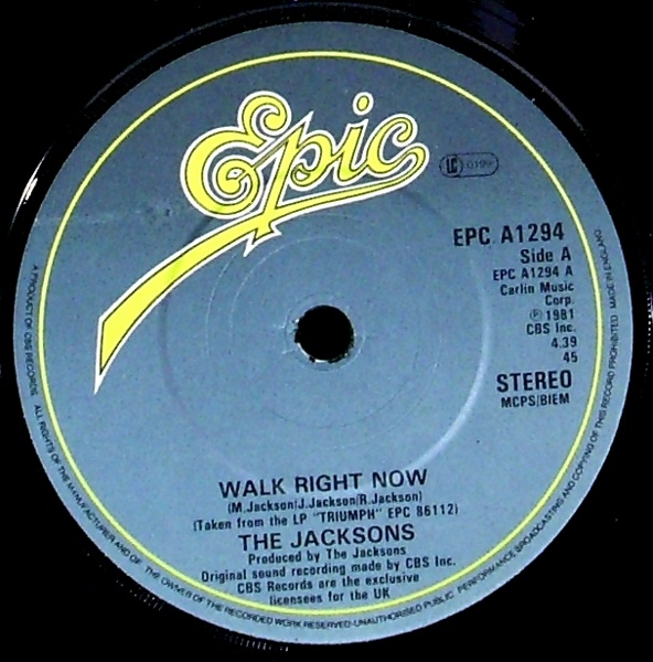 Jacksons, The ? - Walk Right Now