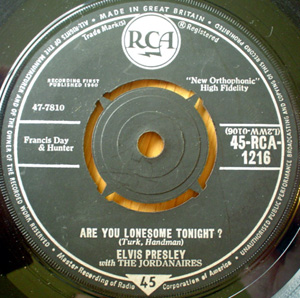 Elvis Presley With Jordanaires, The - Are You Lonesome Tonight?