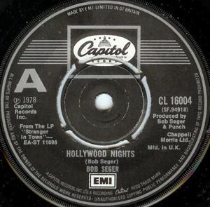 Bob Seger - Hollywood Nights