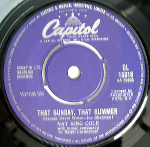 Nat King Cole - That Sunday, That Summer / Mr. Wishing Well