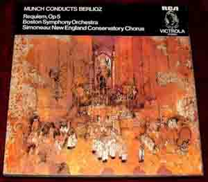 MUNCH CONDUCTS BERLIOZ / Boston Symph. - REQUIEM