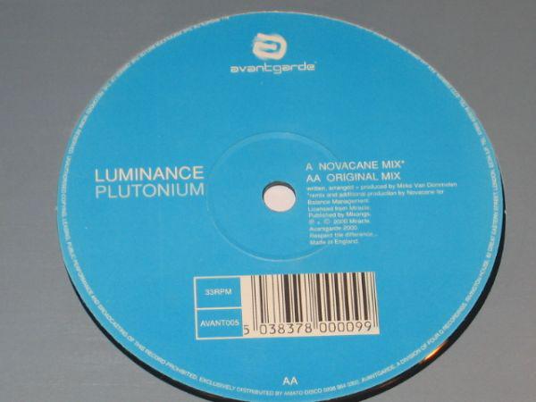 LUMINANCE - PLUTONIUM