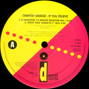 CHANTAY SAVAGE - IF YOU BELIEVE