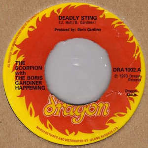 SCORPION, THE WITH BORIS GARDINER HAPPENING - Deadly Sting - 45T x 1