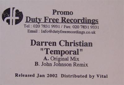 Darren Christian - Temporal