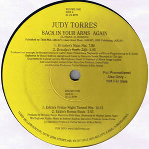 Judy Torres - Back In Your Arms Again