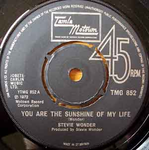 Stevie Wonder ‎ - You Are The Sunshine Of My Life Record