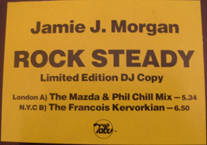 JAMIE J. MORGAN - Rock Steady - 12 inch x 1