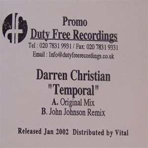 DARREN CHRISTIAN - TEMPORAL