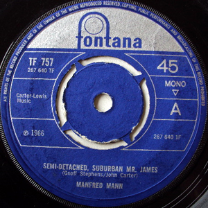 Manfred Mann - Semi-Detached, Suburban Mr. James