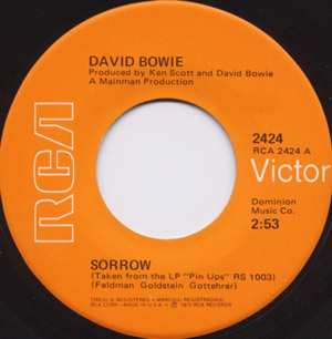 David Bowie - Sorrow / Amsterdam