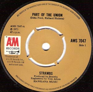 Strawbs - Part Of The Union / Will You Go