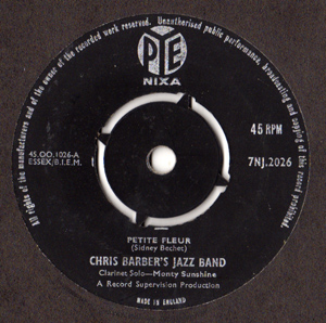 CHRIS BARBER'S JAZZ BAND - Petite Fleur - 45T x 1