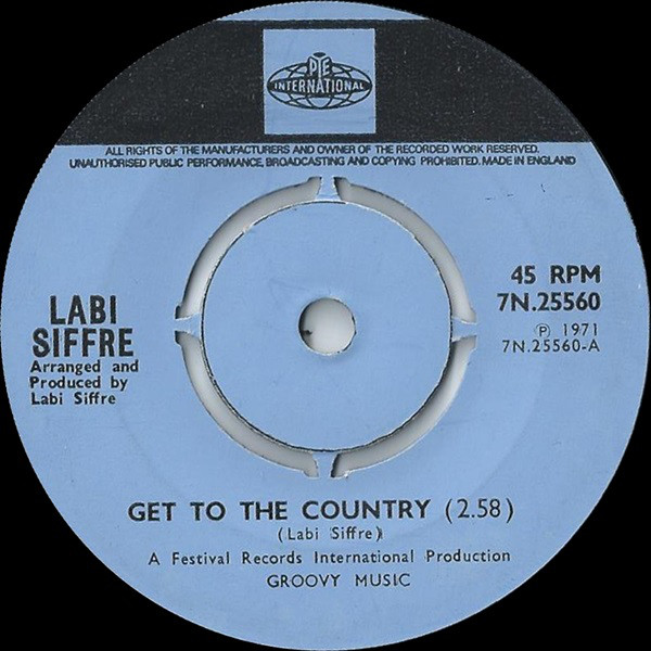 Labi Siffre - Get To The Country / A Feeling I Got
