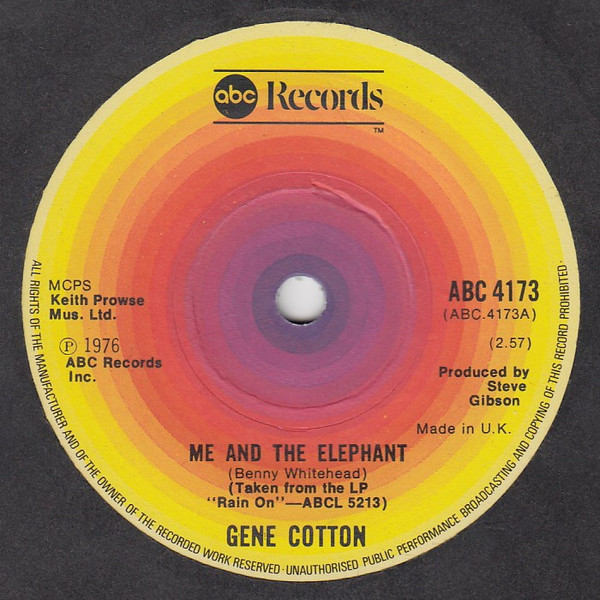 Gene Cotton - Me And The Elephant