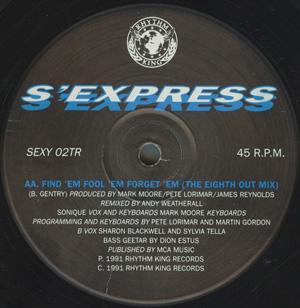 S'EXPRESS - Find 'Em, Fool 'Em, Forget 'Em - 12 inch x 1