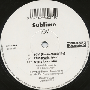 SUBLIME - TGV