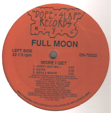 Full Moon - More I Get