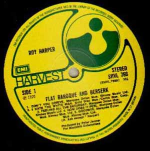 Roy Harper - Flat Baroque And Berserk (Signed)