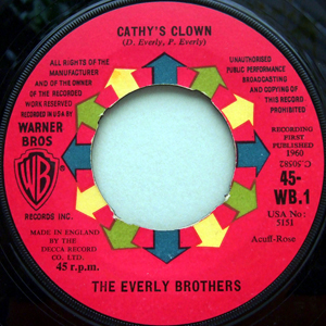 Everly Brothers - Cathy's Clown / Always It's You